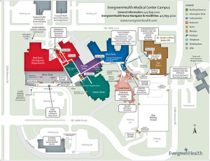 Map of EvergreenHealth Medical Center Campus